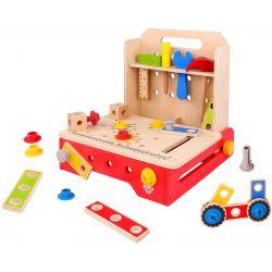 Tooky Toy Hopfällbar snickarbänk i trä