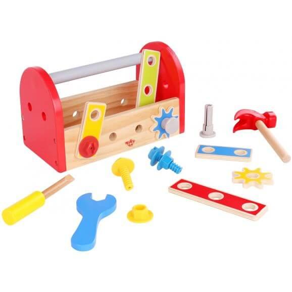 Tooky Toy Verktygslåda i trä 18 delar