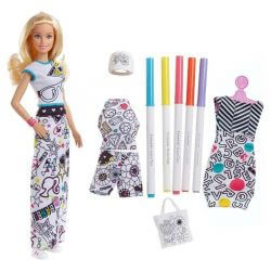 Barbie Crayola Color-In Fashions Doll FPH90