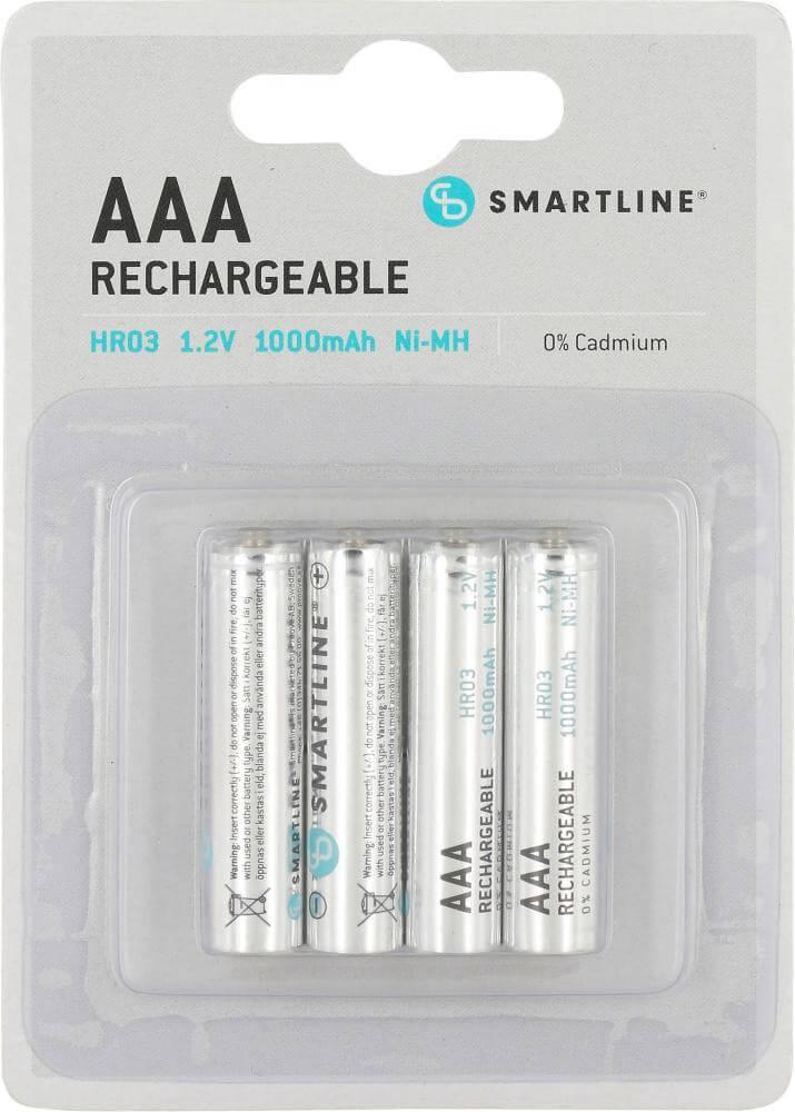 Läs mer om AAA, 1,5 Volt Batterier. Uppladdningsbara. 4 st.