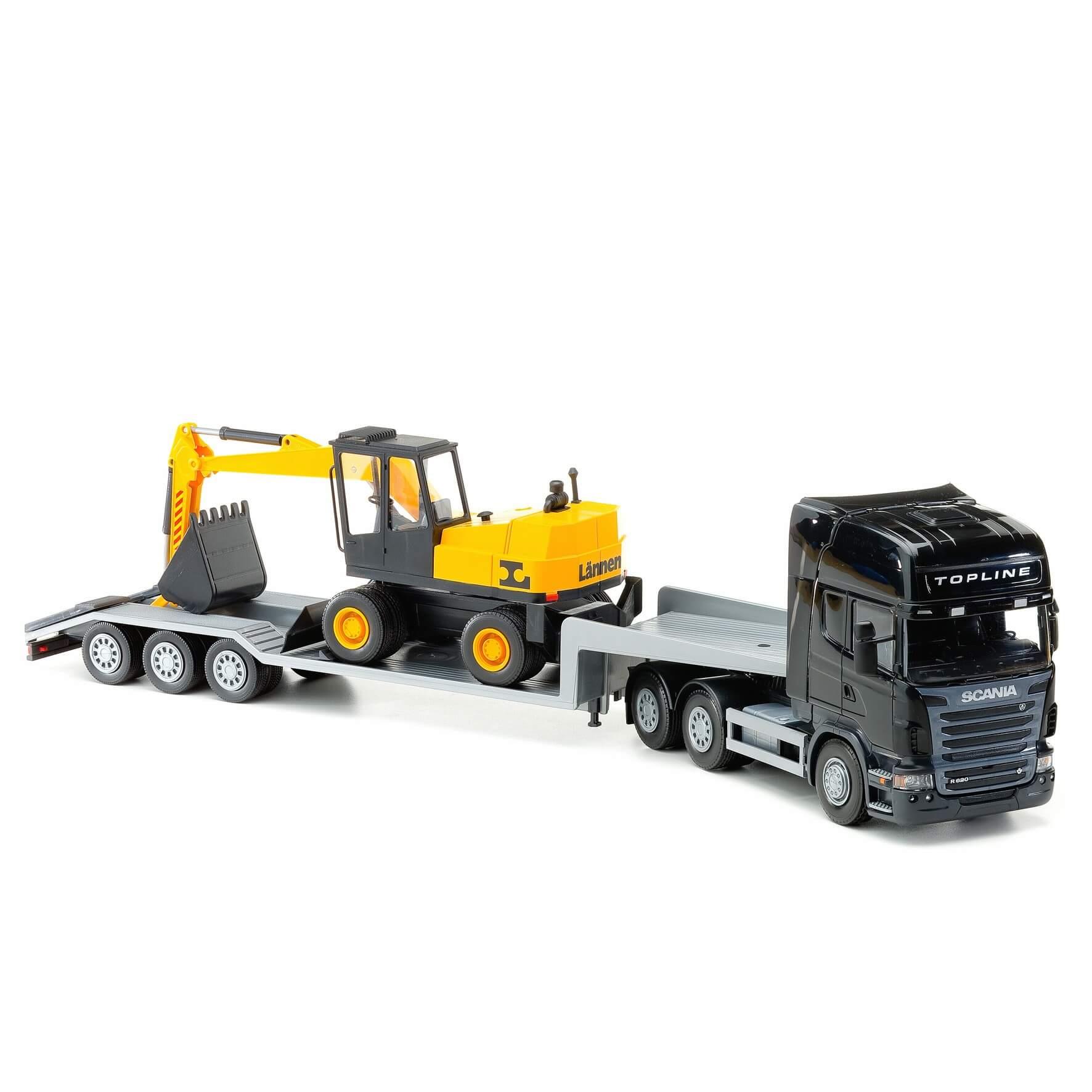 Läs mer om Scania low loader & grävmaskin. 1:25