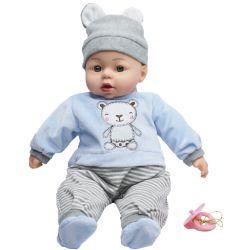 Lovely Baby Docka Blå med ljud 46 cm