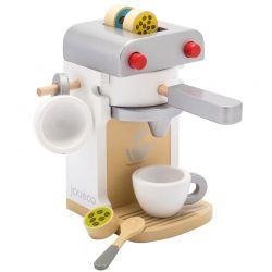 Jouéco Kaffemaskin delux i trä 7 delar