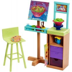 Barbie Art Studio Accessories FJB26