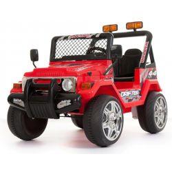 Azeno Elfyrhjulling barn Röd Buffalo 2x12V