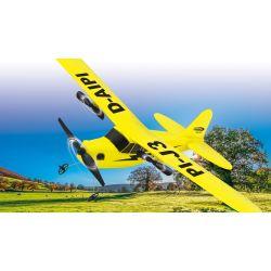 Radiostyrt Flygplan Piper J3-Cub Plane 2CH Gyro 2,4G