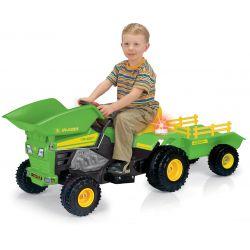 Eltraktor Farmtrack Injusa med släp och skopa 6 volt