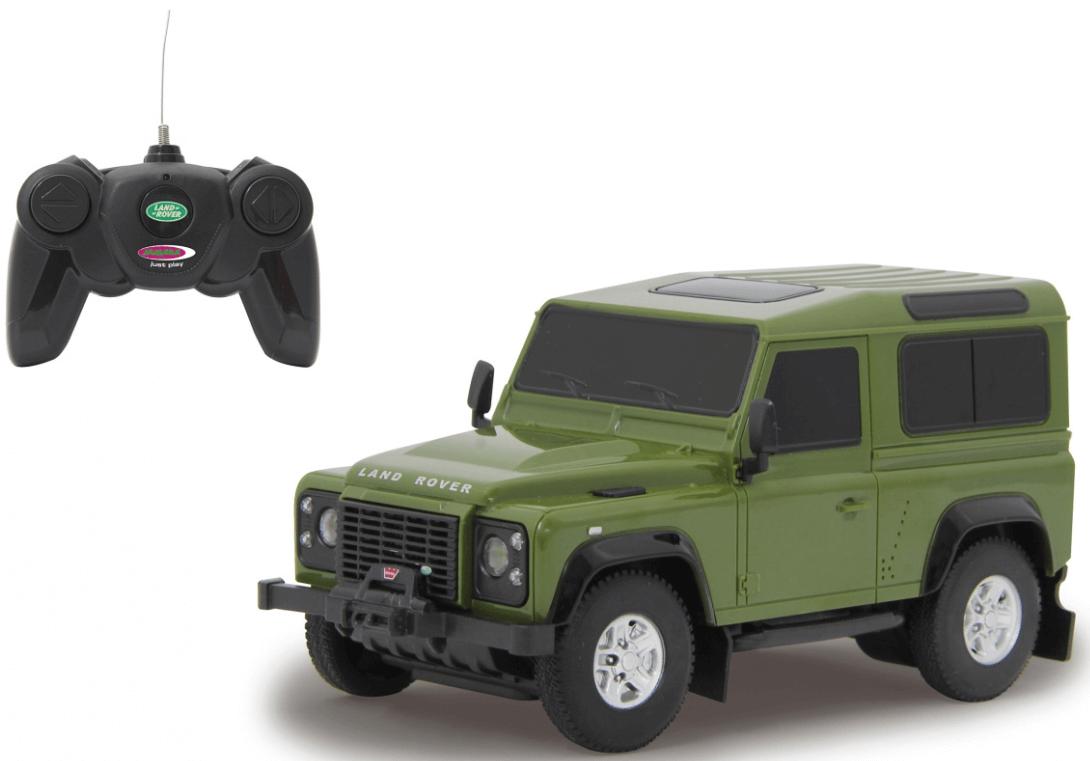 Radiostyrd Bil Land Rover Defender Grön Jamara 1:24 - 27 MHz