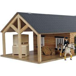 Kids Globe Häststall Vinklat stall till Schleich hästar 1:24