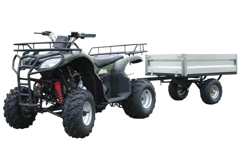 Läs mer om Fyrhjuling bensindriven Loncin Gepard 150cc med vagn