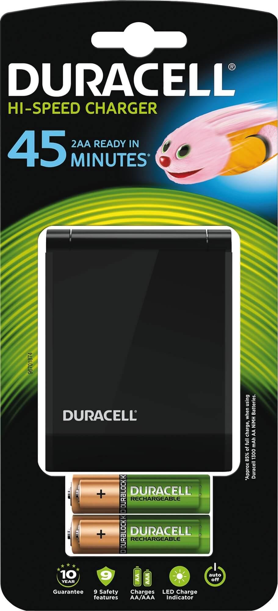 Läs mer om AA och AAA, Batteriladdare Duracell, ladda på 15 minuter