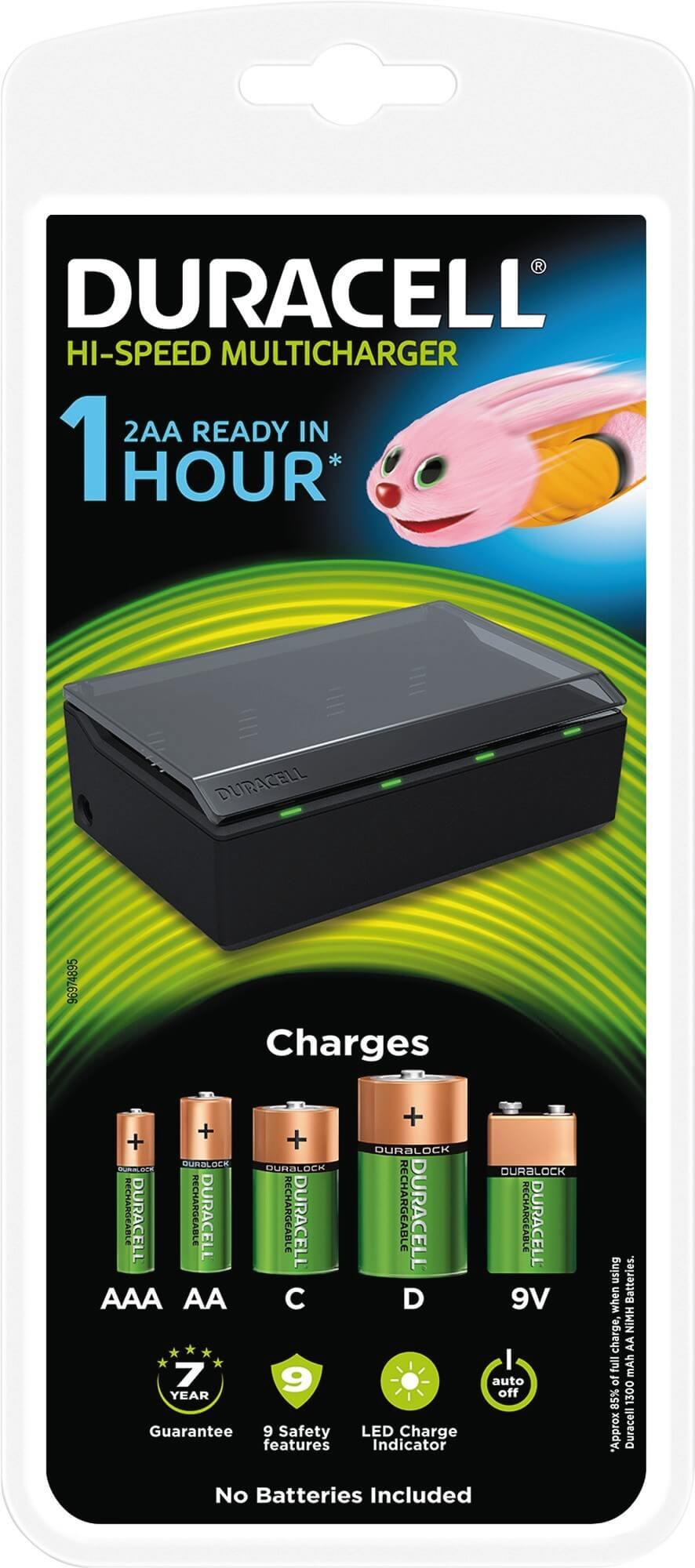 Läs mer om Multi - batteriladdare Duracell. 1 timme.