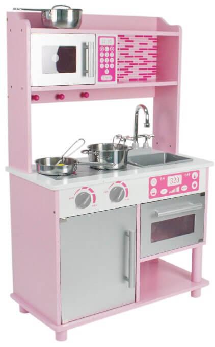 Läs mer om Större leksakskök, rosa med micro, ugn och skåp