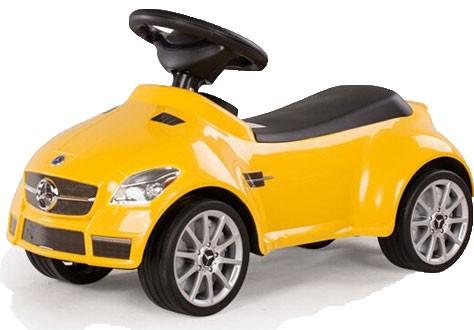 Läs mer om Mercedes SLK 55 AMG Sparkbil, Gul