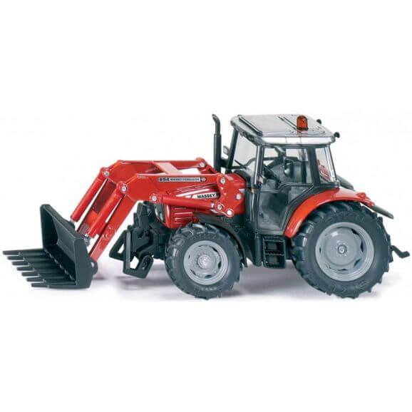 Leksak Siku traktor Massey Ferguson Frontlastare 1:32