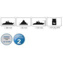 Radiostyrd Segelbåt Atlantic Atlantique Jamara 5 km/h - 27 MHz