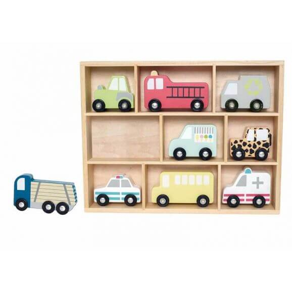 Jabadabado Food Truck Leksaksbil i trä