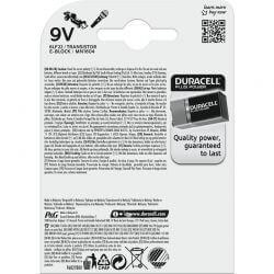 9 Volt, Duracell Plus Power Alkaline Batterier. 2 st.