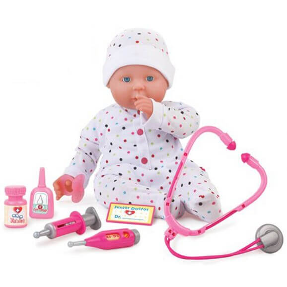Docka 46 cm Doktorset Dolls World