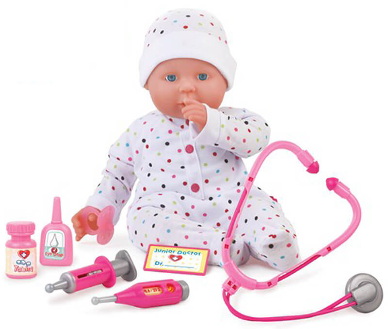 Dolls World Docka Doktorsset 46 cm Dolly Doctor