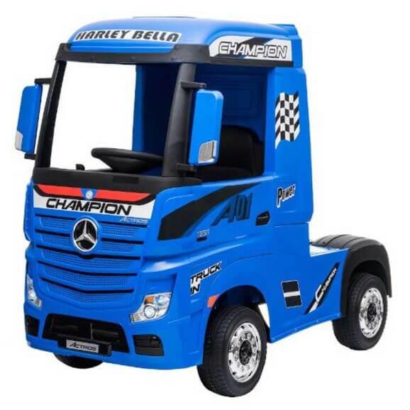 Elbil Lastbil till barn MercedesBenz ActrosBlå 4WD 4 x 12 volt