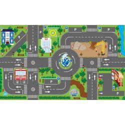 Lekmatta med LED Trafik ljus till leksaksbilar Kids Globe