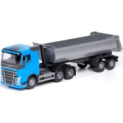 EMEK Volvo lastbil blå med tippbart flak. Emek