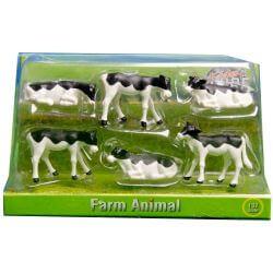 Kalvar av rasen Holstein leksaksdjur Kids Globe 1:32
