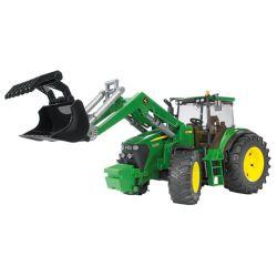Traktor JOhn Deere 7930 med frontlastare. Bruder. Skala 1:16