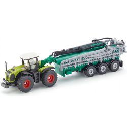Claas Xerion traktor med flytgödselspridare. Siku.