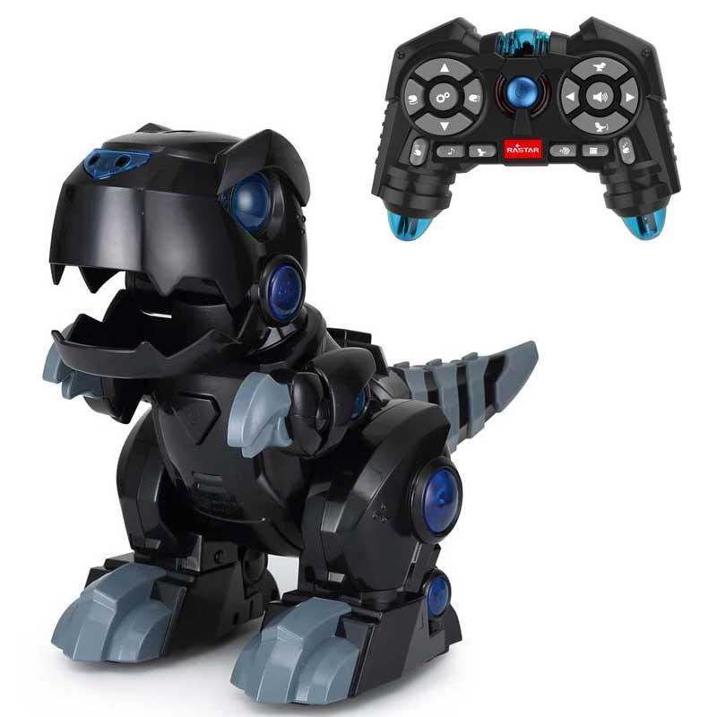 Robot Dinosaurie IR-Styrd Svart Rastar