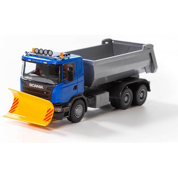 Emek Scania G 490 Lastbil med Plog Blå