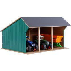 Maskinhall för Siku traktorer. Kids Globe Djup 38 cm. Skala 1:32