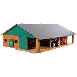 Ladugård, bondgård med mjölkstation och Siku traktor. Kids Globe. 1:32