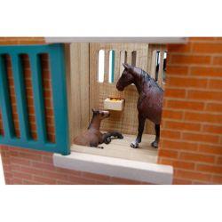 Häststall för hästar Schleich med 9 st. hästboxar. Kids Globe. Skala 1:32