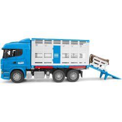 Scania R-Series djurtransport. Bruder. Skala 1:16