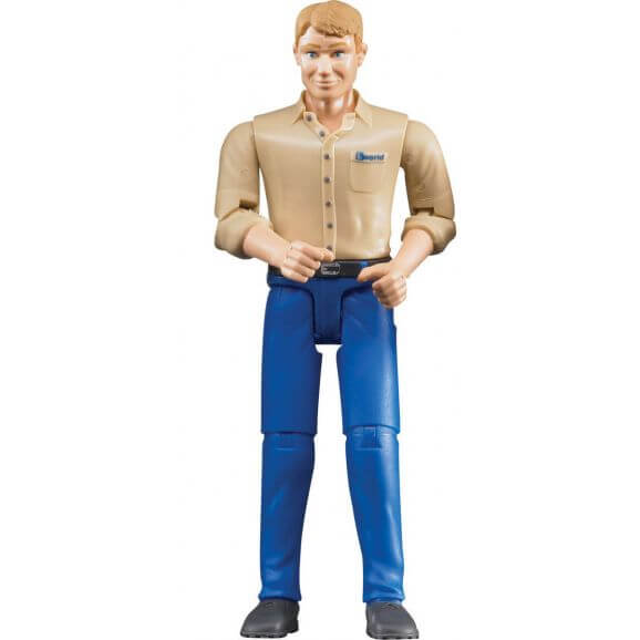 Bruder figur man med blå jeans