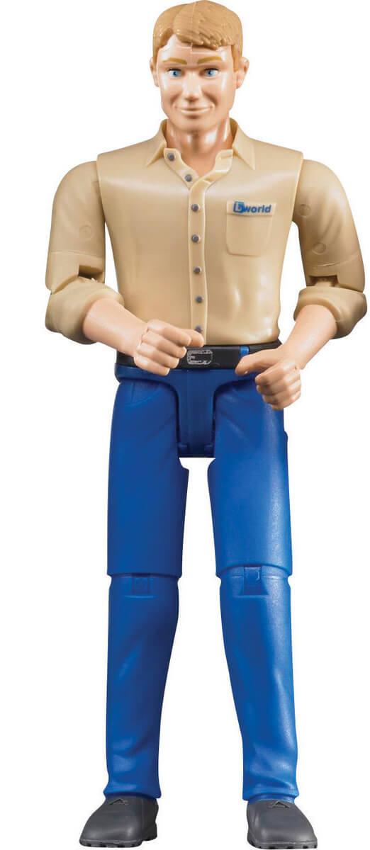 Bruder Figur Man med Blå Jeans 60006