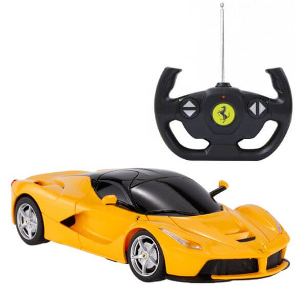 Radiostyrd bil Ferrari LaFerrari Gul. 1:14