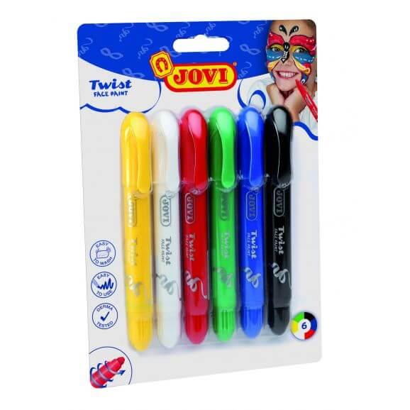 Ansiktsfärg vridbara pennor med 6 färger
