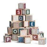 Alfabetsklossar i trä